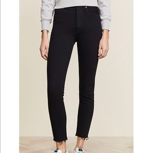 Re/Done skinny black cropped jeans